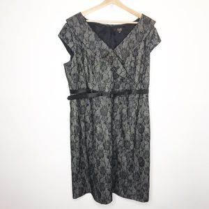 Alex Marie Woman Lace Overlay Floral Career Dress
